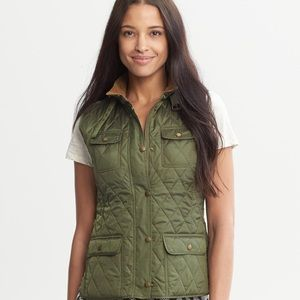 Banana republic quilted military utility vest